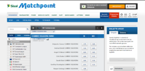 Sisal Matchpoint quote dal vivo